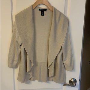 Gold Cardigan Sweater